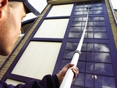 Window cleaning reach and wash